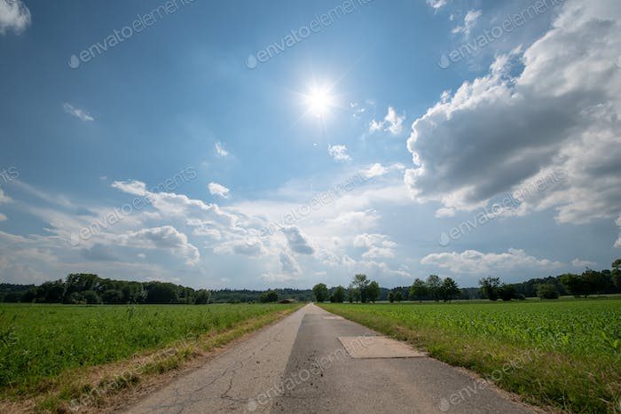 Beautiful countryside landscape in Styria Austria agronomy fields