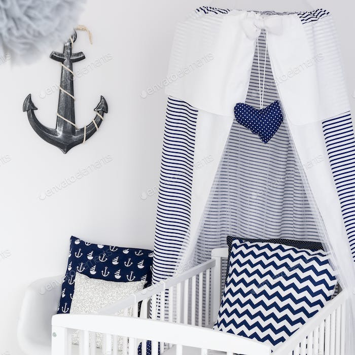 Nautical themed nursery for boy or girl
