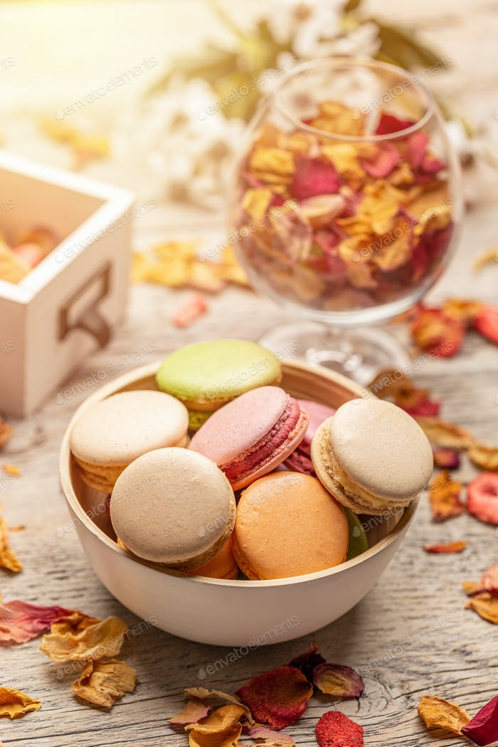 Delicious french macaroons