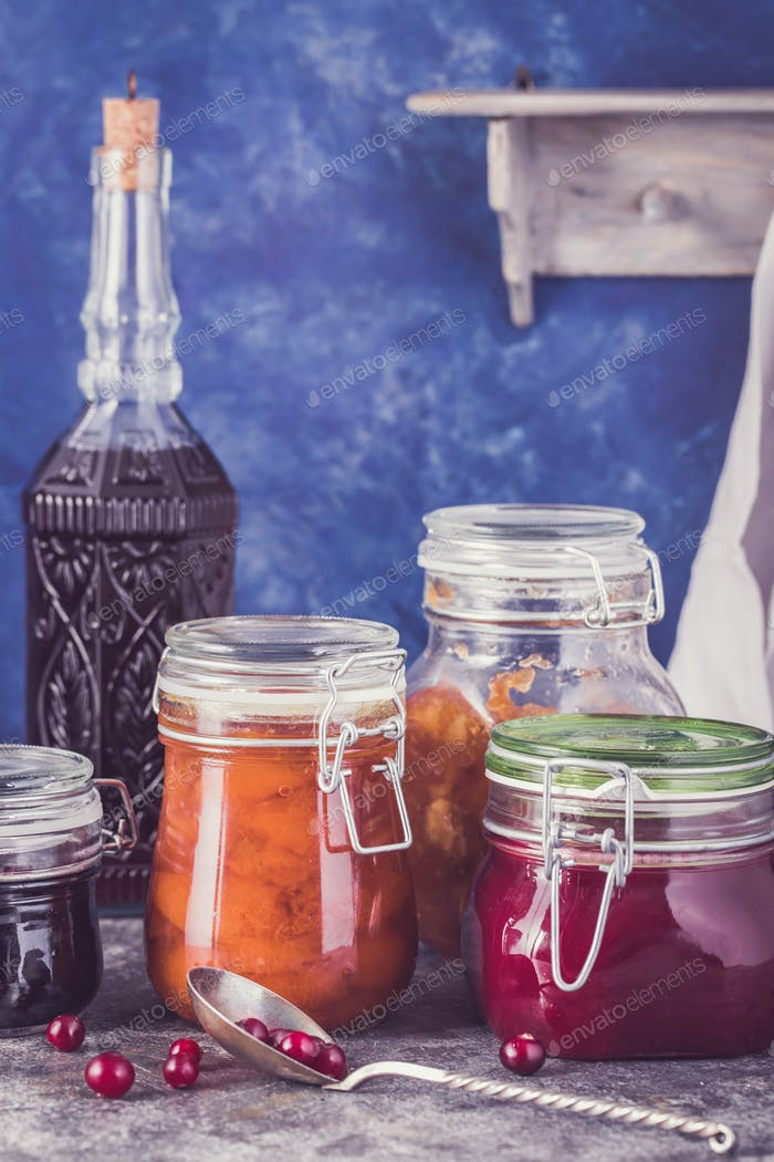 Some jars of homemade jam