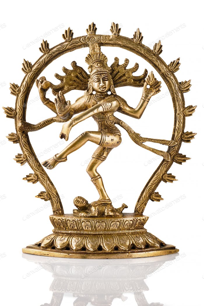 Statue of Shiva Nataraja - Lord of Dance isolated