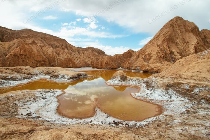 Orange pond in Valley of Mars