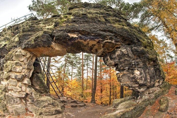 Little Pravcice Gate - famous natural sandstone arch