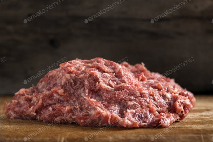 Raw traditional Romanian minced meat