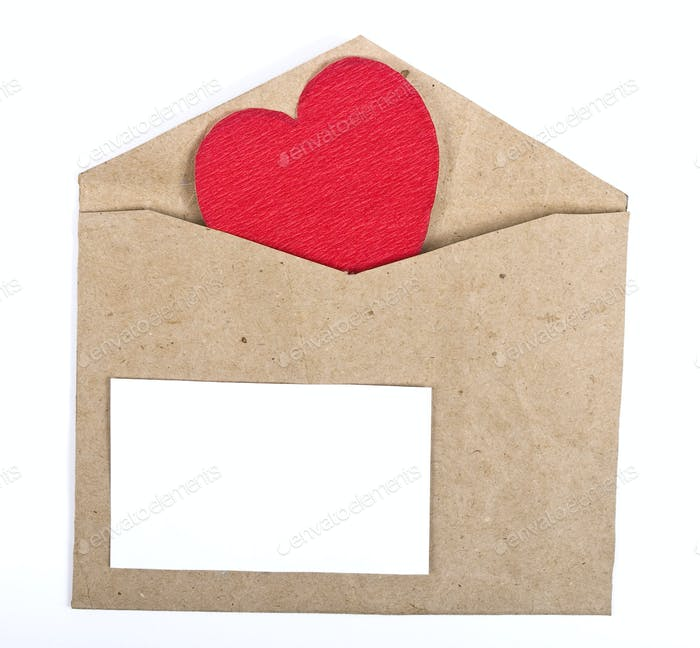Paper package with valentine card