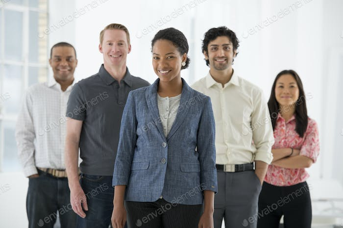 Team of people, a multi ethnic group, men and women
