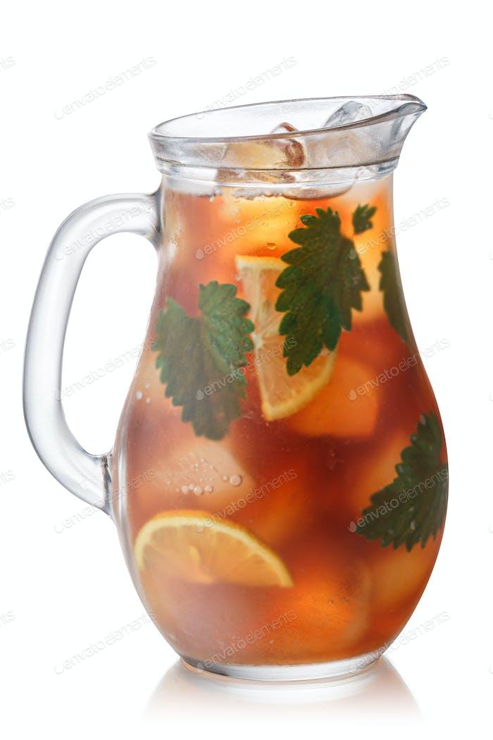 Iced catnip lemon tea jug, paths