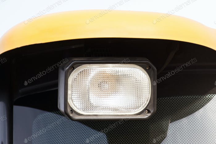 Front light of car, tractor or agricultural machine