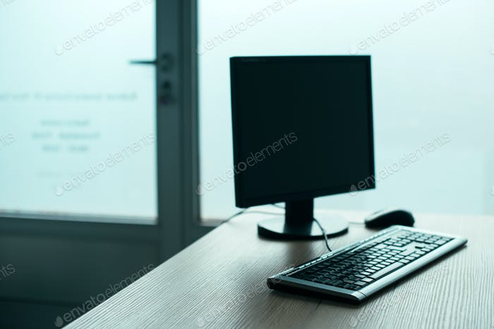 Desktop PC computer in empty office