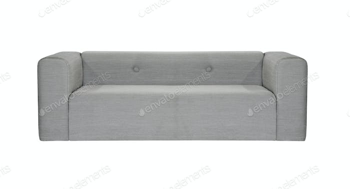 grey modern sofa isolated