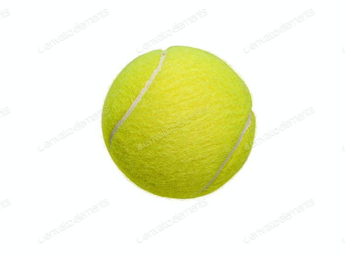 Yellow Tennis Ball White Background