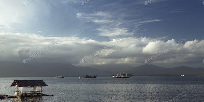 Cargo Ships In Bay