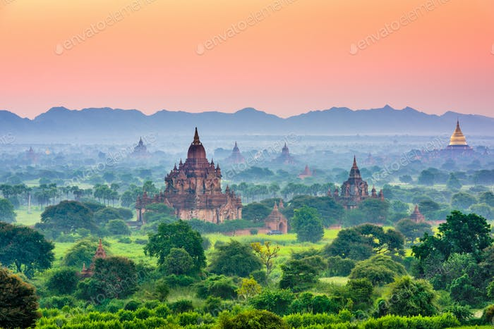 Bagan, Myanmar Ancient Temple Landscape