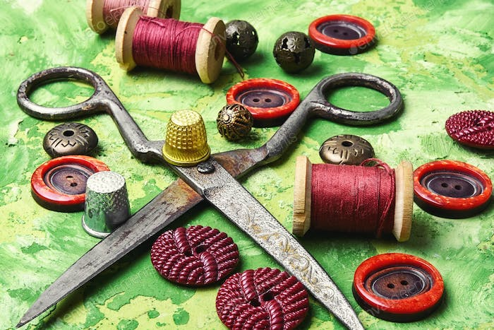 Homemade tools for sewing and needlework