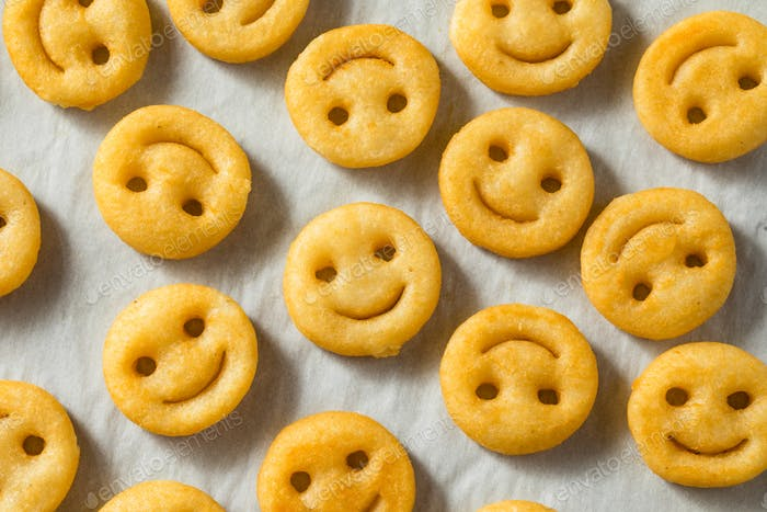 Homemade Smiley Face French Fries