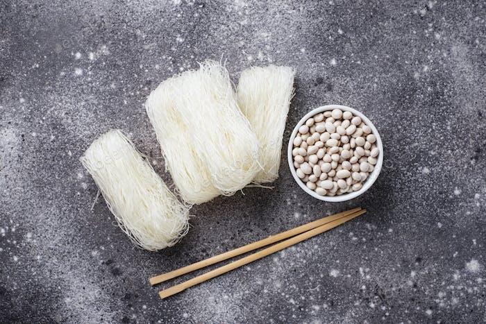 Raw funchoza, Korean bean noodles