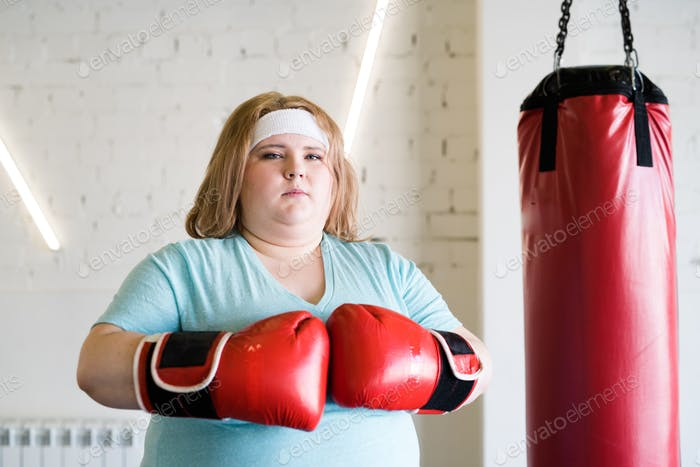 Confident Woman Boxing