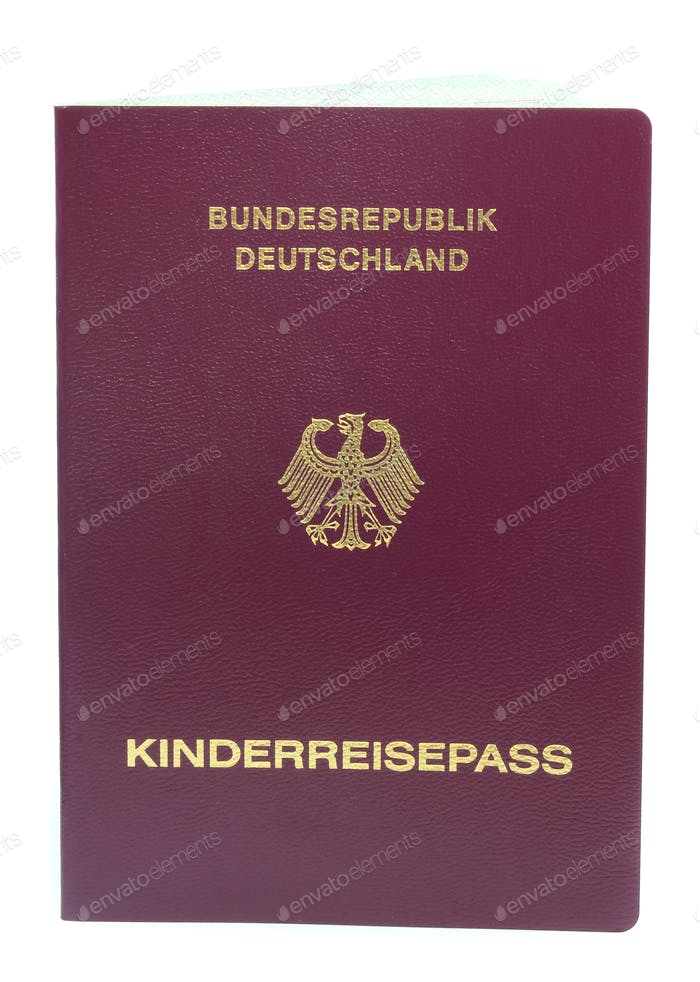 Childs German Passport