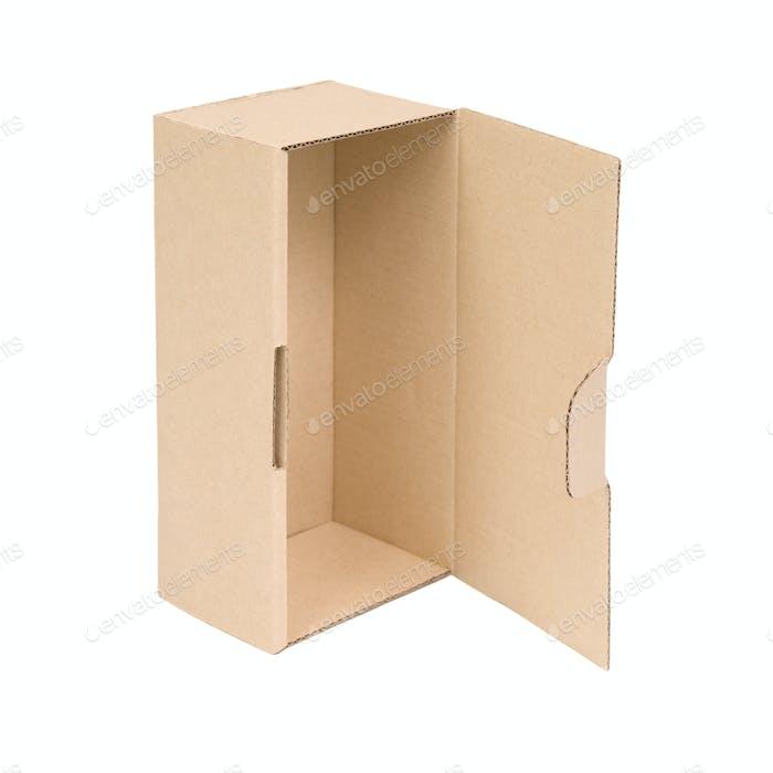Open cardboard box.