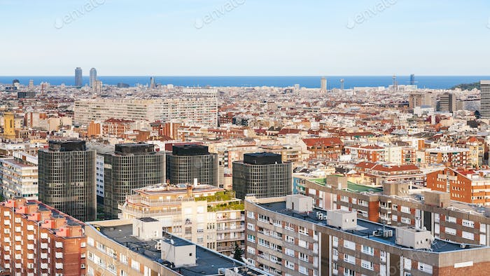 apartment houses in Barcelona city