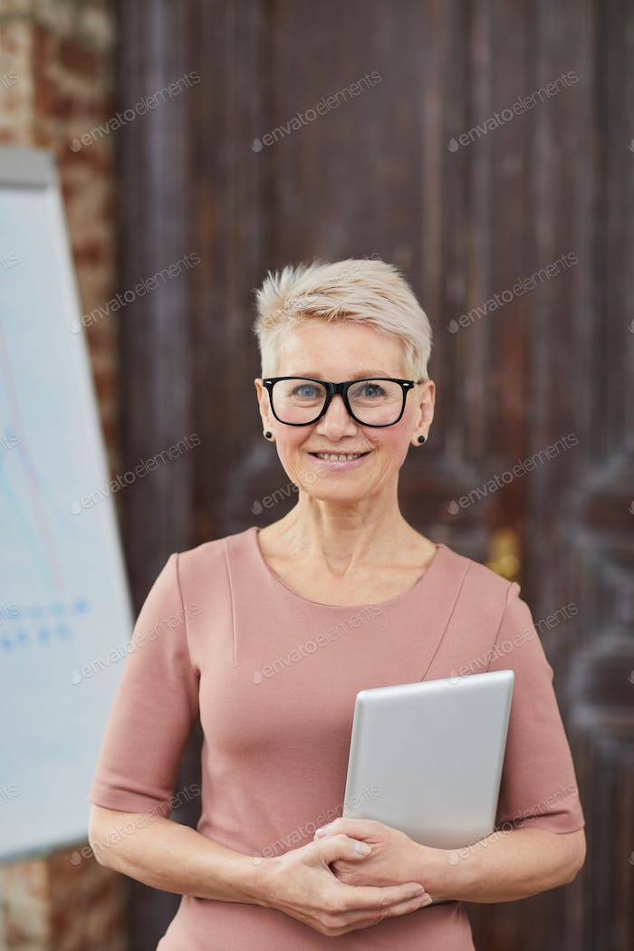 Mature Businesswoman Wearing Glasses