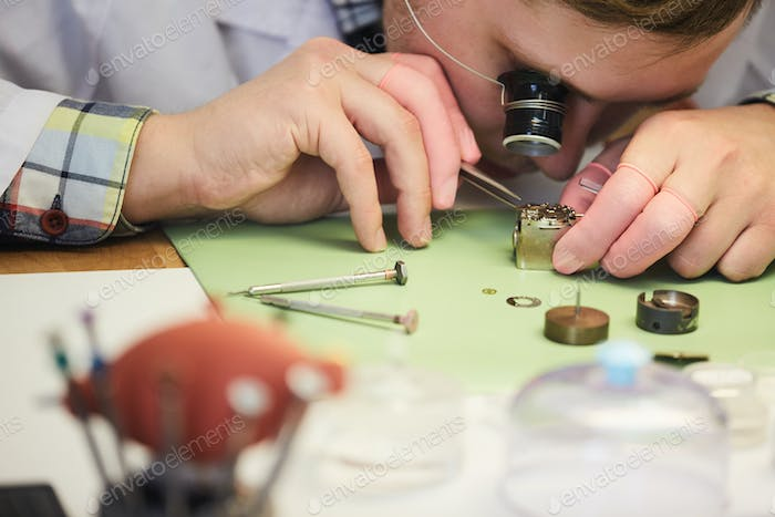 Watchmaker Close up