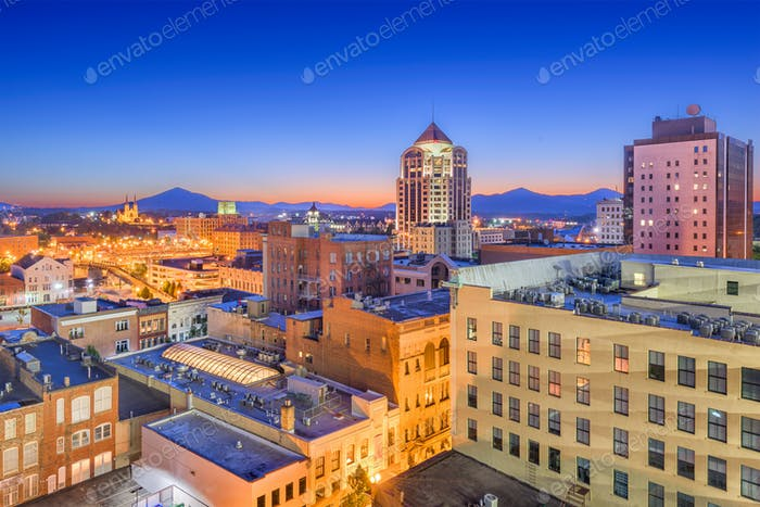 Roanoke, Virginia, USA Downtown Skyline