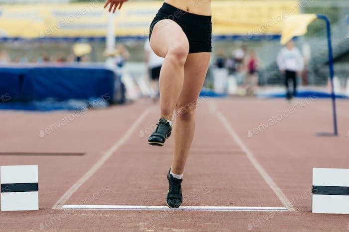 Girl Athlete Long Jump