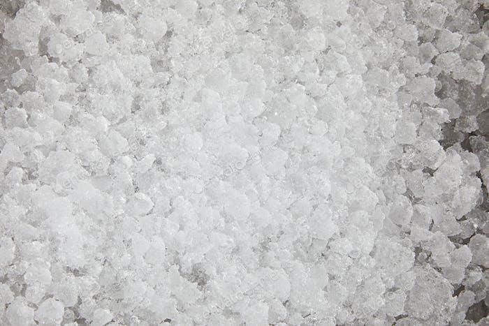 full frame shot of crushed ice for food freezing