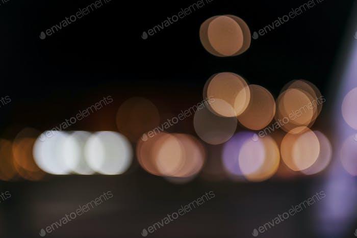 Nachtlicht-Bokeh-Banner