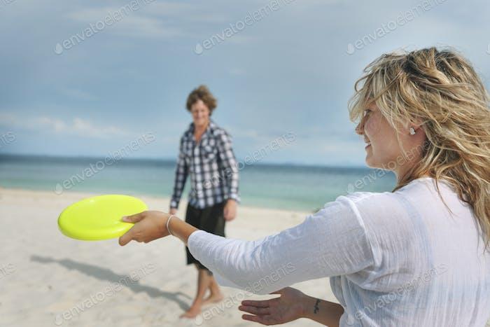 Beach Bonding Relationship Tropical Trip Fun Concept