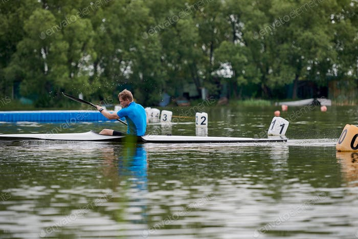 Winner in rowing competition