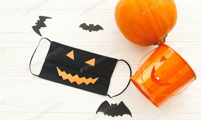 Halloween 2020 safe celebration. Stay safe stay creative during coronavirus pandemic