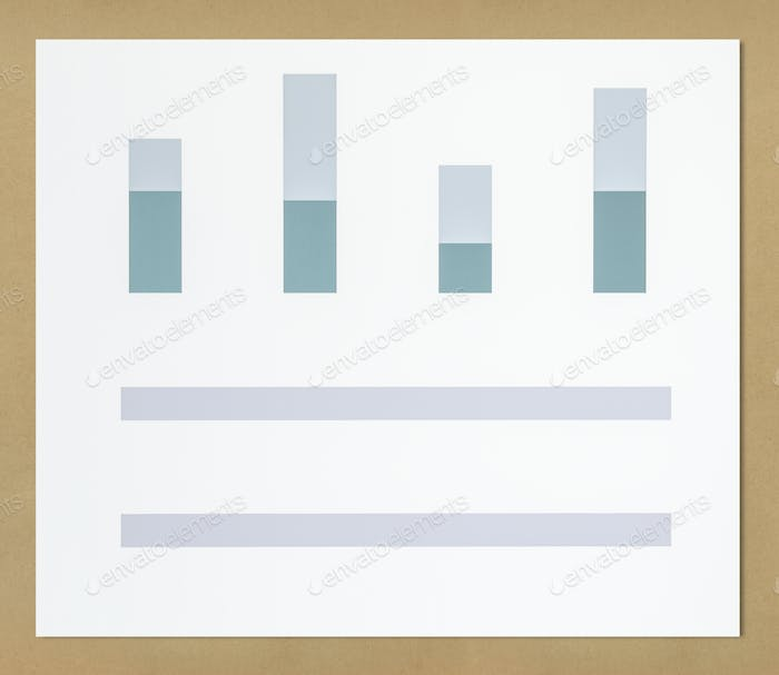 Business data analysis bar chart icon