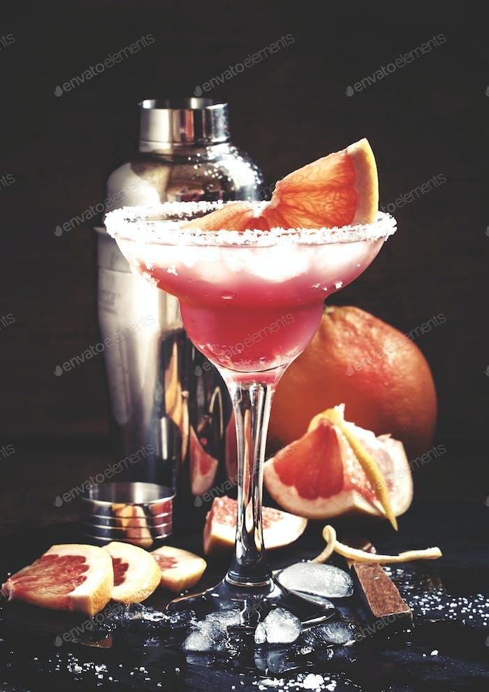 cocktail Greyhound, with vodka, liqueur, grapefruit juice