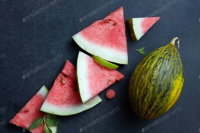 fresh pieces watermelon