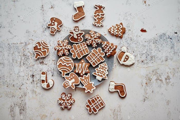 Frische und leckere Weihnachts-Lebkuchenkekse