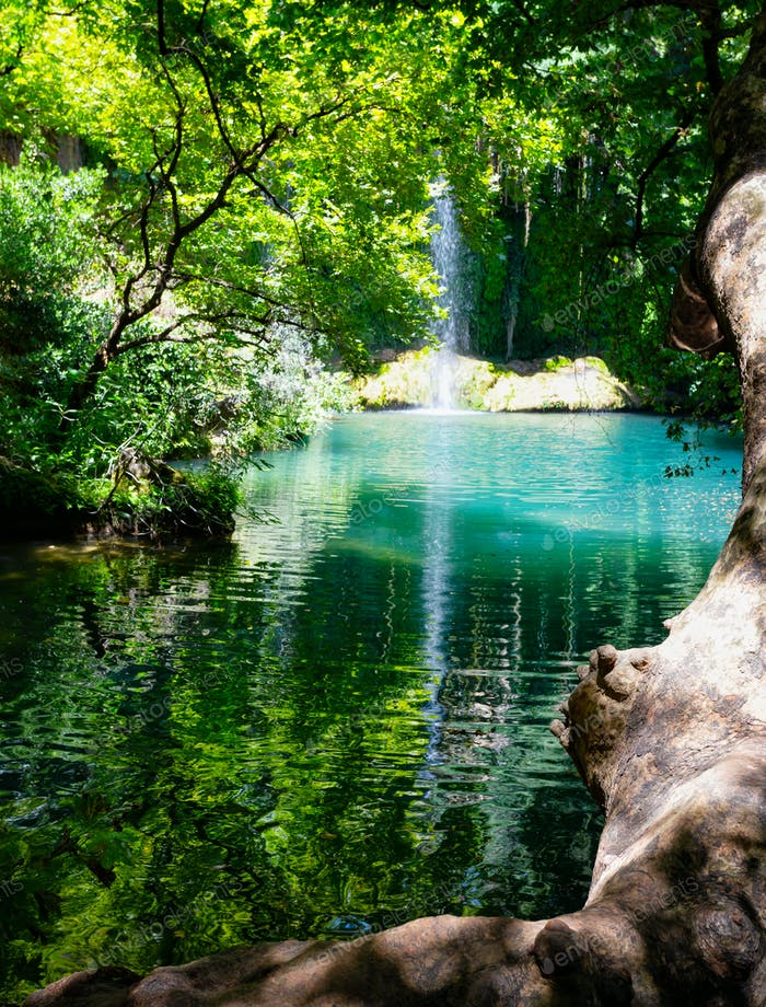 Kursunlu Waterfall in a nature park