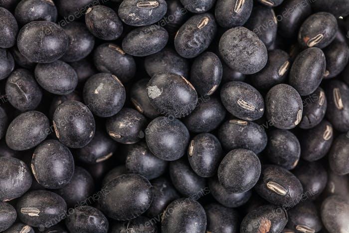 Macro Texture of Black Soy Beans