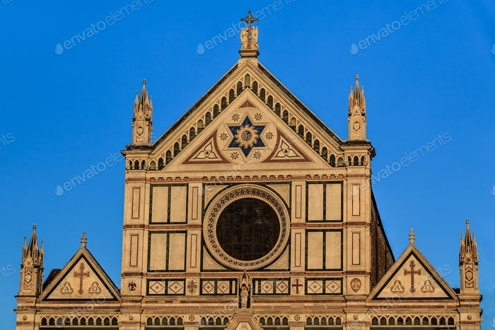 Kirche der Basilika Santa Croce in Florenz, Italien.
