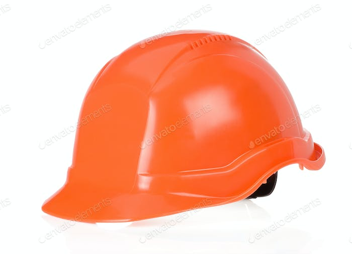 construction worker helmet on white