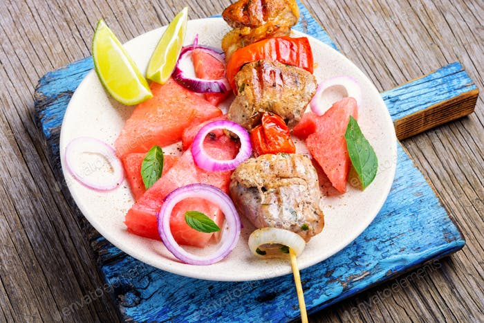 kebab with watermelon