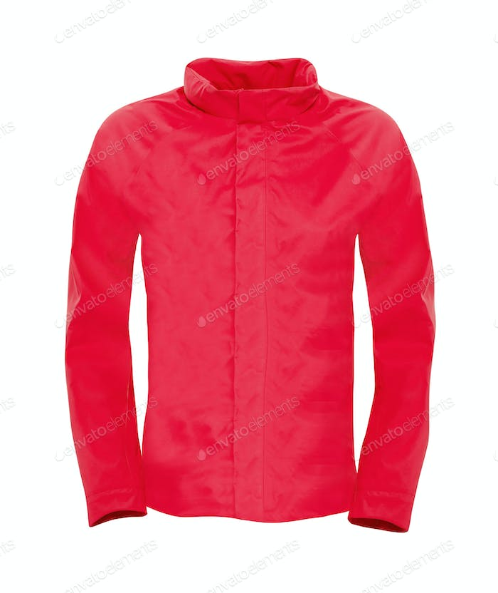 red jacket isolated