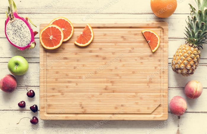 Assortment of tropical citrus fruits background
