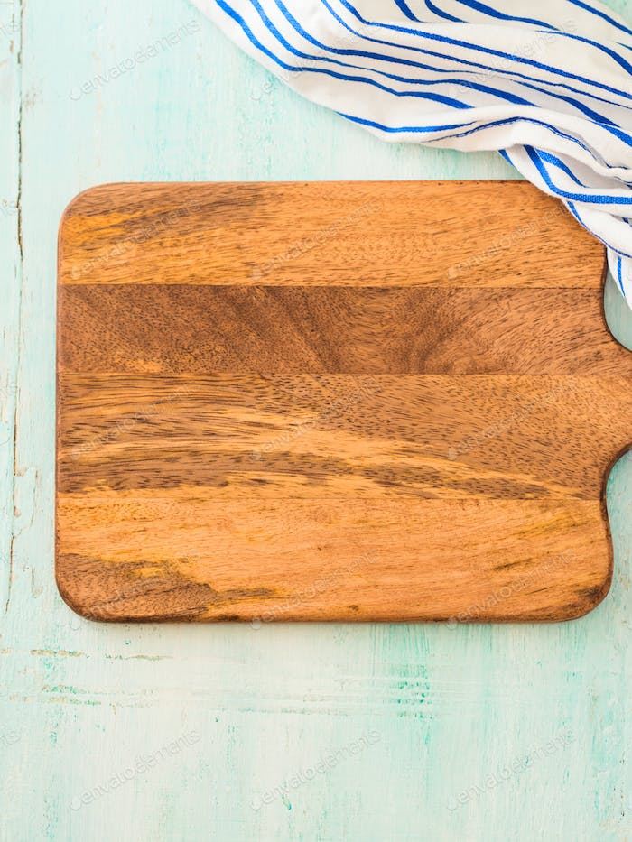 Chopping wooden board background mock up