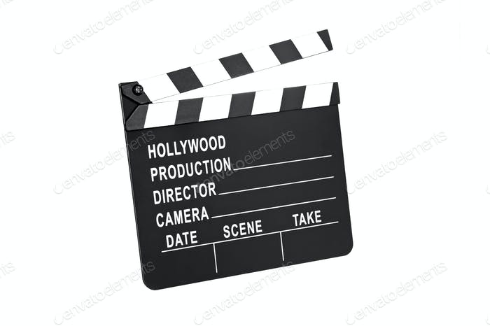 Film slate on white