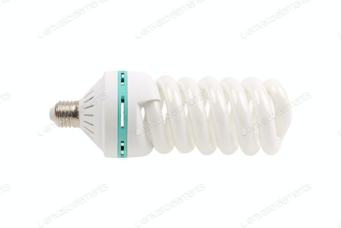 Fluorescent Light Bulb energy saving isolated on white