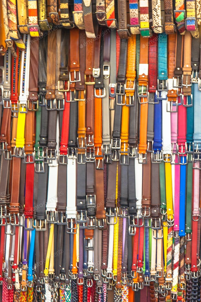 Background of Leather Pants Belts