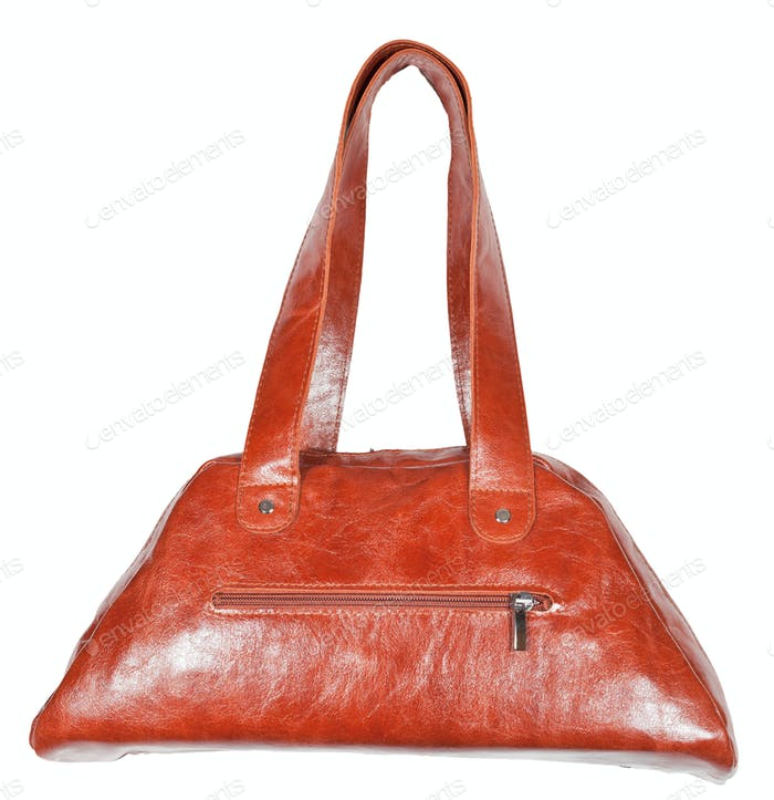 original leather brown handbag