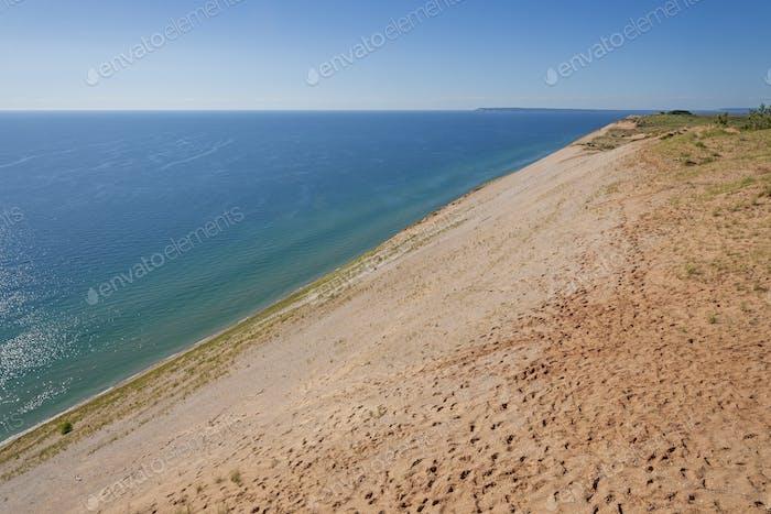 Dramatic Dunes and Blue Lake